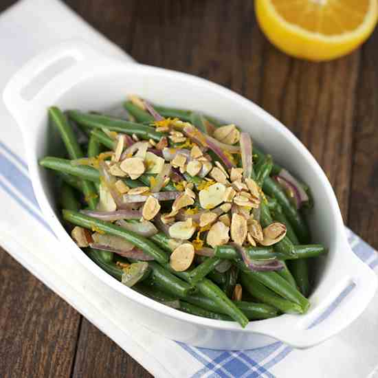 Citrus Green Beans with Almonds