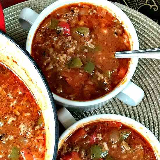 Stuffed Pepper Soup