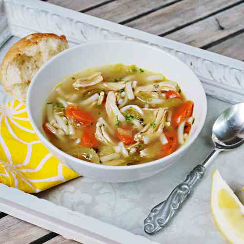 Chicken Noodle Soup with Lemon