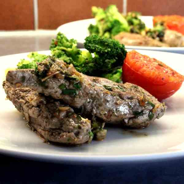 Quick Lamb Fillets with Vegetables