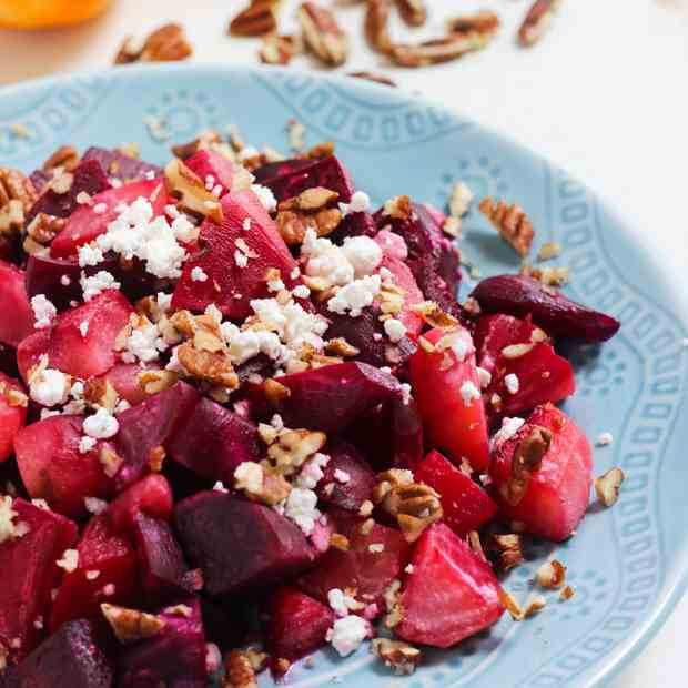 Roasted Orange Maple Beet Salad