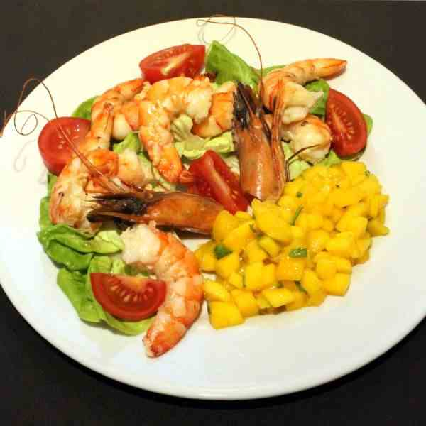 Shrimps with Mango Salsa