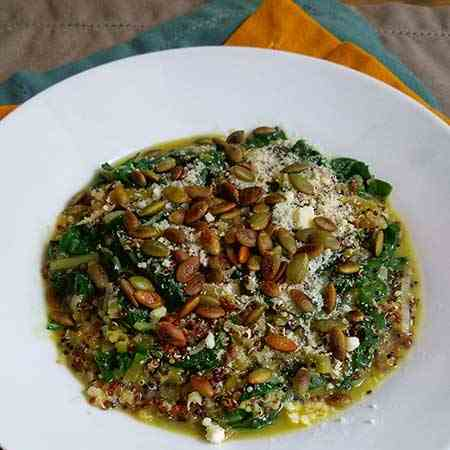 Autumn Squash and Greens Quinoa Risotto