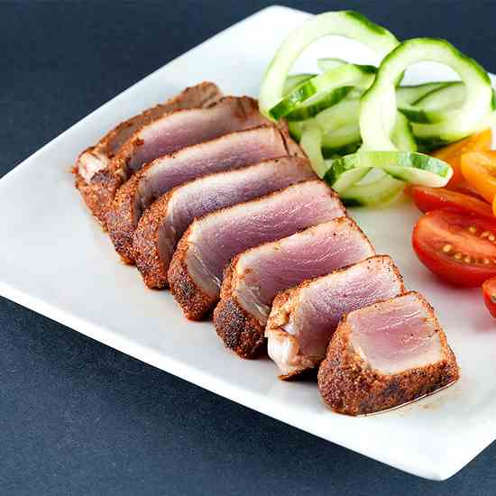 Herb crusted tuna steak