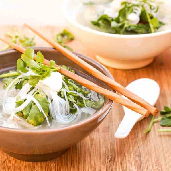 Halibut and Watercress Asian Soup