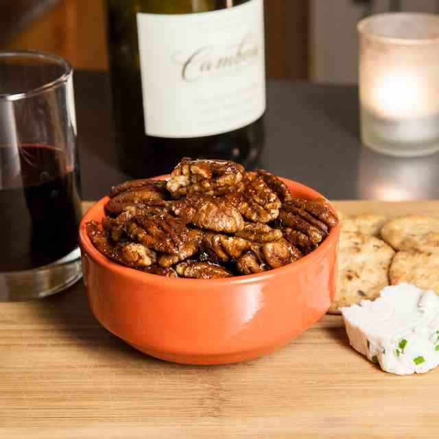 Smoky Maple Roasted Pecans