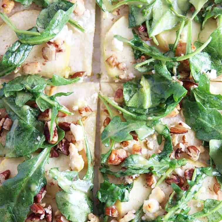 Apple Arugula Goat Cheese Pizza