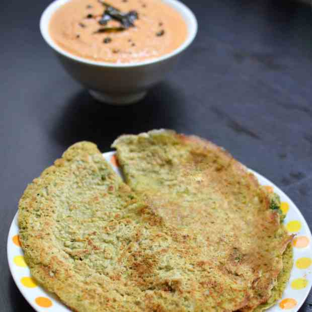 Oats Curry Leaves Dosa