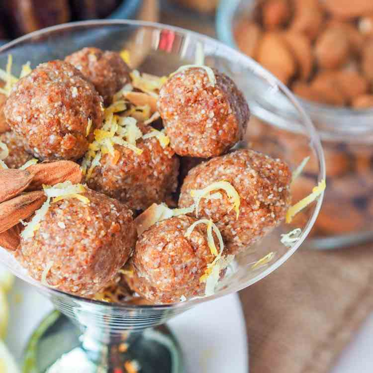 Date Lemon Energy Balls