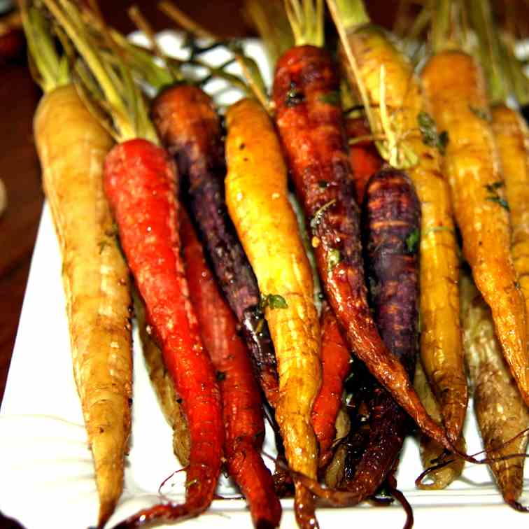 Roasted young Carrots