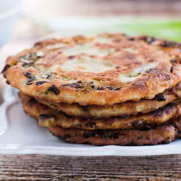 Crispy Scallion Pancakes