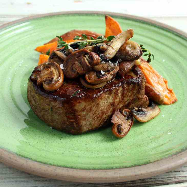 AIP Steak with Mushrooms, Thyme, and Sweet