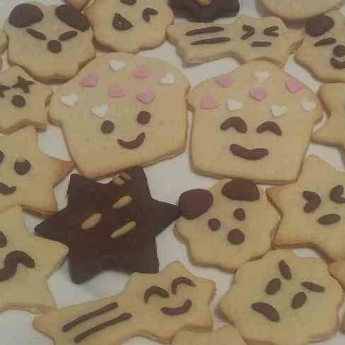 Simple happy butter cookies