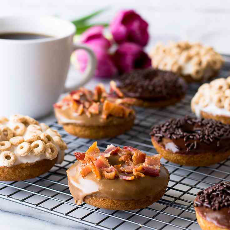 Easy Baked Donuts Three Ways