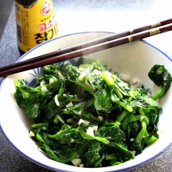 Chinese fried Pea Shoots