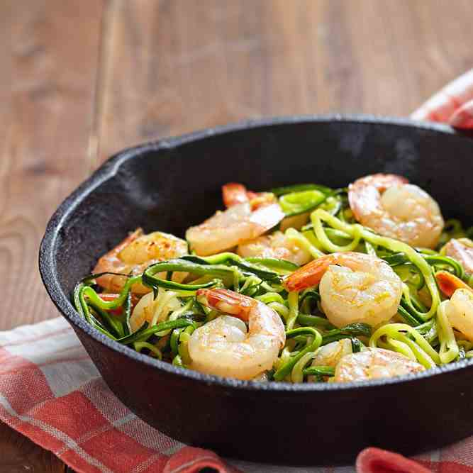 Simple Prawns And Zoodles Recipe