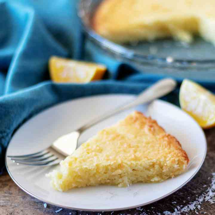 Easy Lemon Coconut Custard Pie