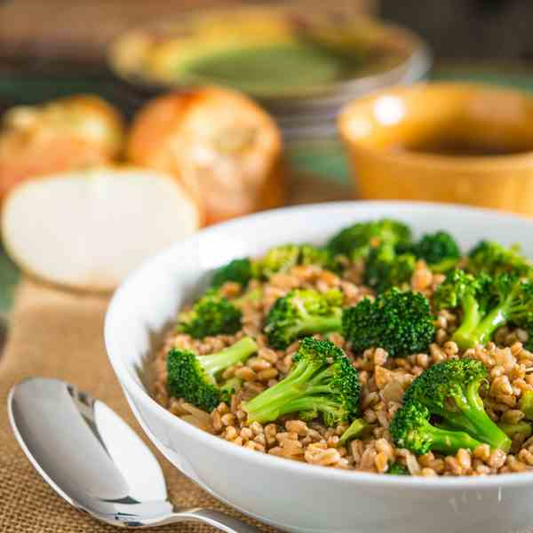 Broccoli and Farro Salad