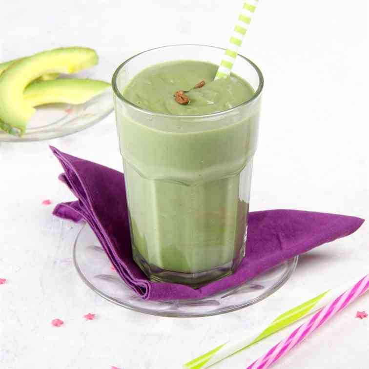 Coffee, Banana and Avocado Smoothie