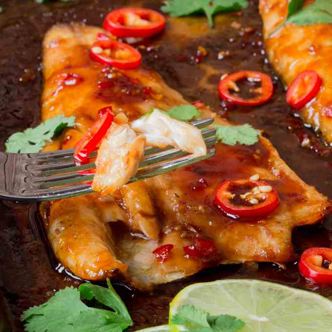 12 minute sticky Asian fish