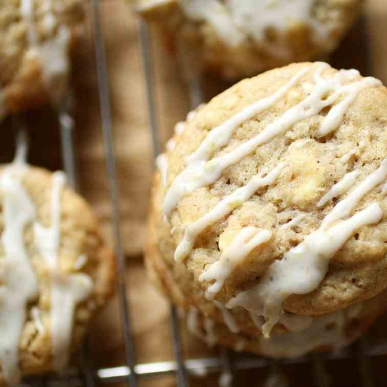 Lemon-cardamom white chocolate cookies