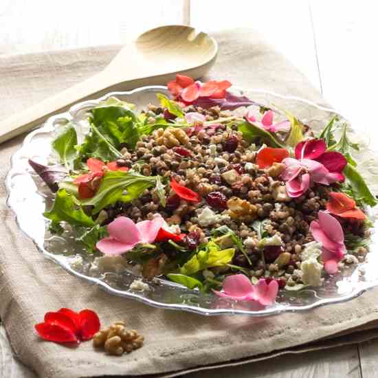Nutty Barley and Lentils Salad