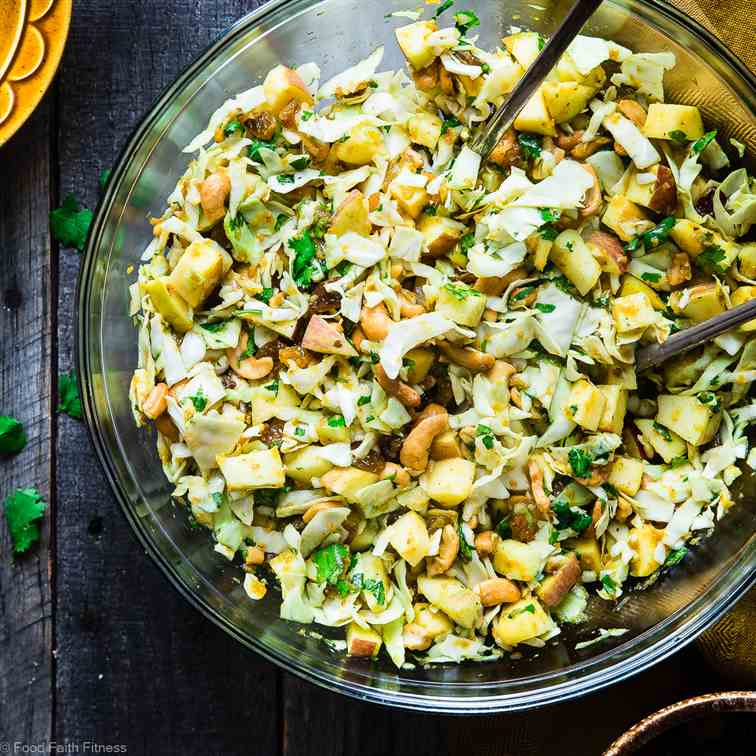 Shredded Cabbage Salad with Apples