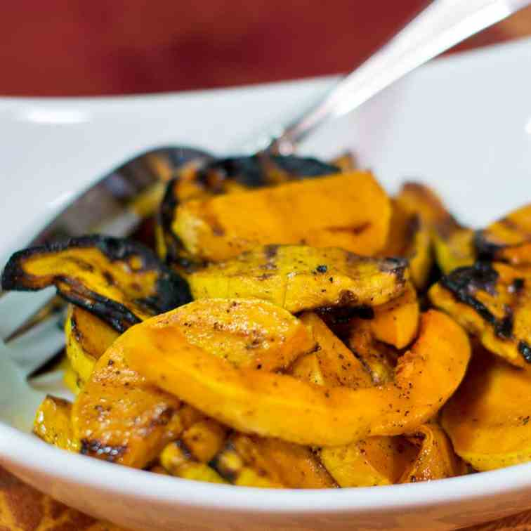 Grilled Butternut Squash with Honey Maple
