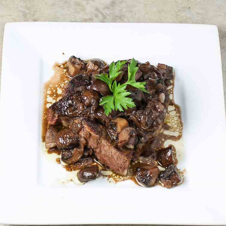 Burgundy Mushrooms from Steak and Ale