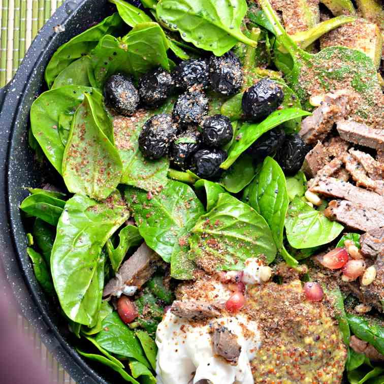 Leftover Duck - Spinach Salad