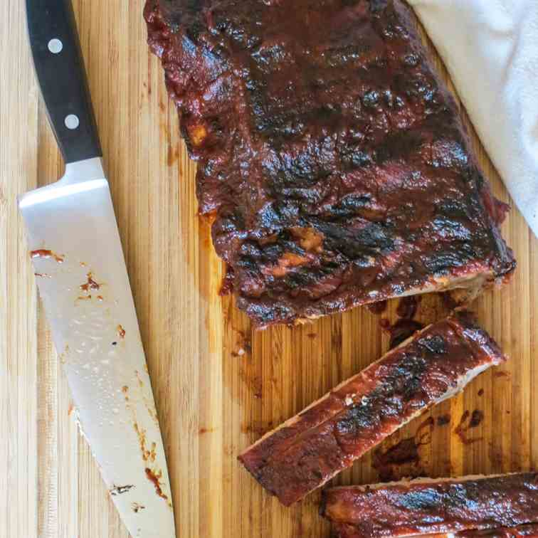 Pork Ribs with Coffee Molasses BBQ Sauce