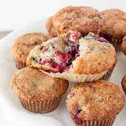 Lemon Raspberry Yogurt Muffins
