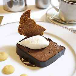 Chocolate mousse with burnt orange cream