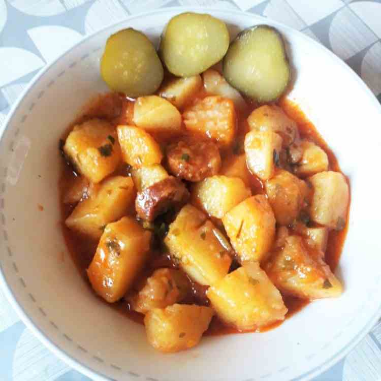 Potatoes Stew-With Smoked Sausages
