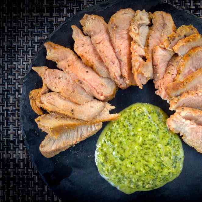 Pork Chops with Chimichurri Sauce