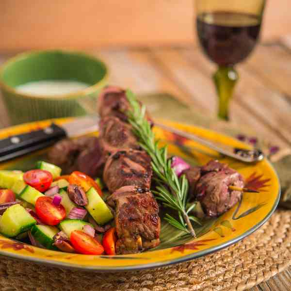 Lamb Kabobs with Tzatziki Sauce