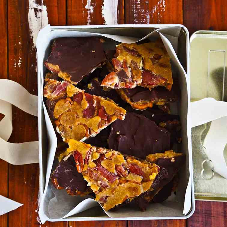 Bacon Pecan Turtle Candy