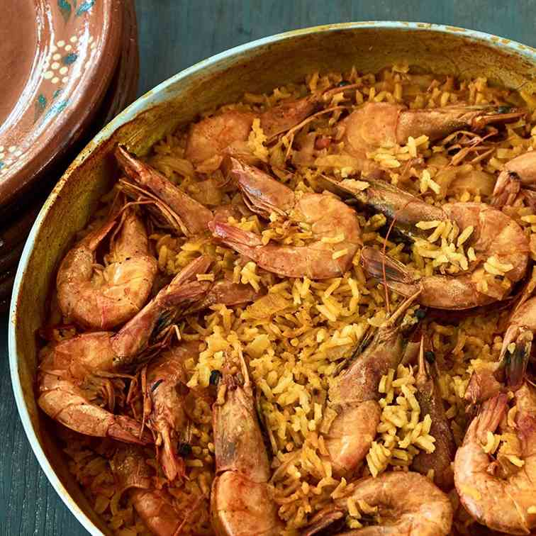 Mexican Curried Shrimp and Rice