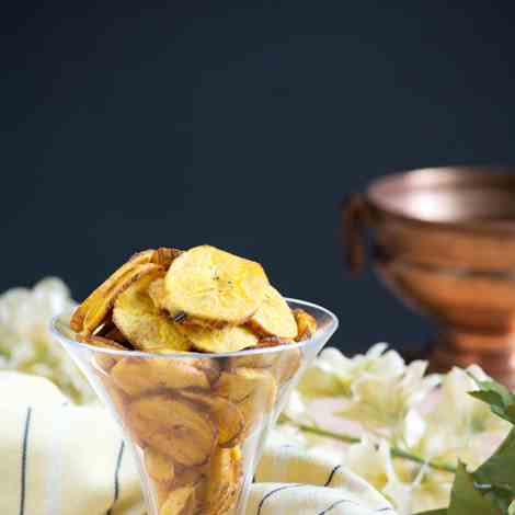 Plantain chips at home
