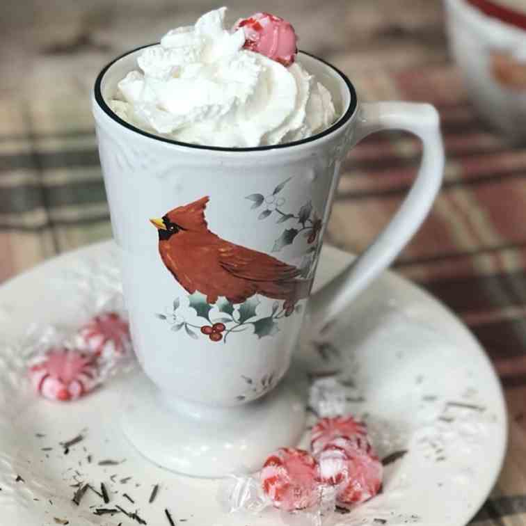 Keto Christmas Candy Cane Hot Chocolate