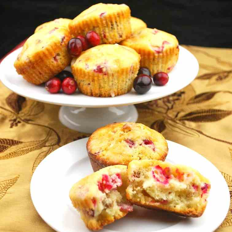 Sparkling Cranberry Muffins