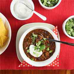 Mexican Black Bean Turkey Sausage Chili