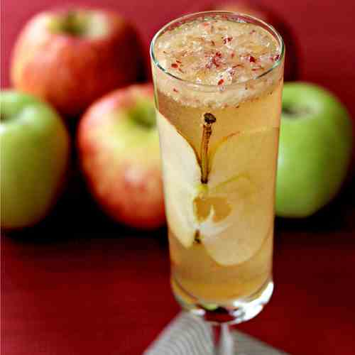 Apple Bourbon Bellini