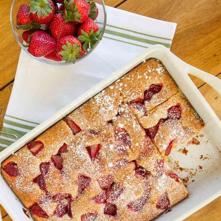 Strawberries and Cream Yogurt Cake