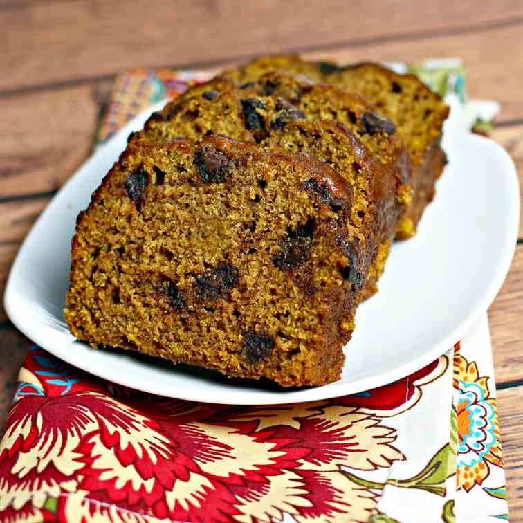 Spiced Pumpkin Chocolate Chip Loaf