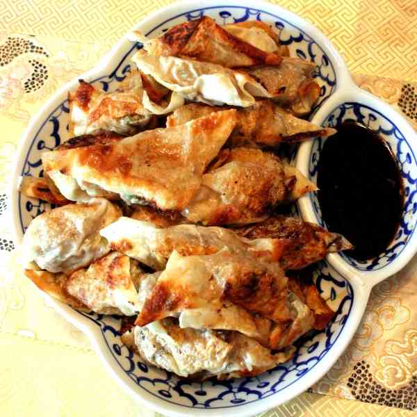 Chinese Pork and Scallion Dumplings