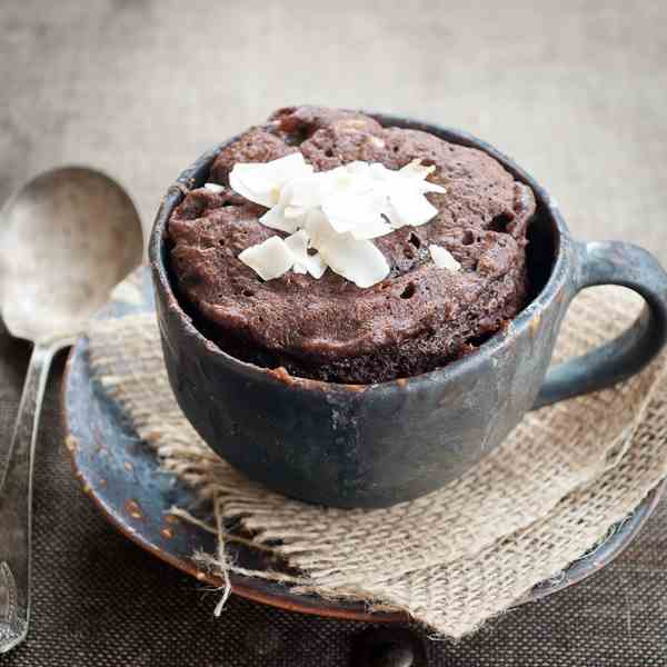 Double Chocolate Coconut Muffin-In-A-Mug