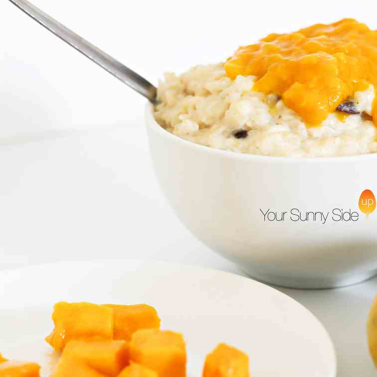 Rice Pudding with a Mango Twist