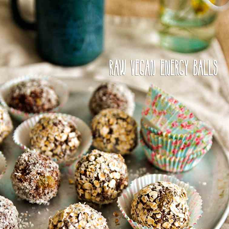 Raw Vegan Chocolate Energy Balls