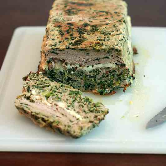 Turkey Feta Meatloaf with Tzatziki